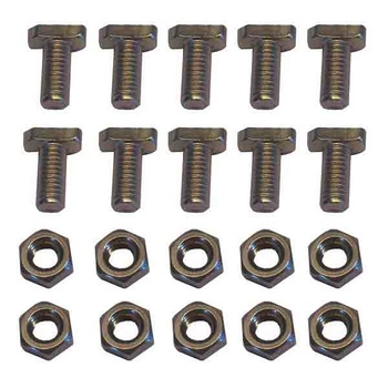 T-bolt, stainless. 10pcs